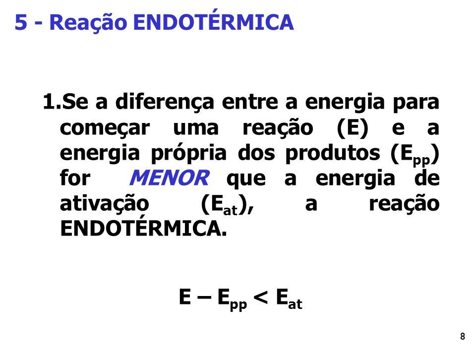 5 - Reação ENDOTÉRMICA