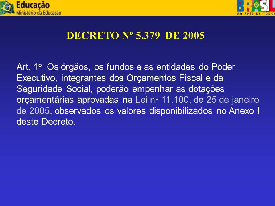 DECRETO Nº 5.379 DE 2005