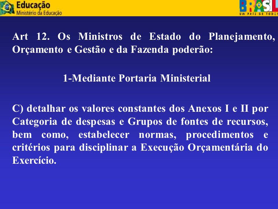 1-Mediante Portaria Ministerial