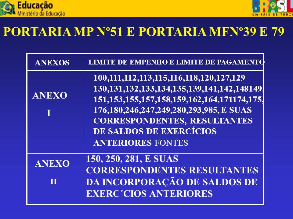 PORTARIA MP Nº51 E PORTARIA MFNº39 E 79