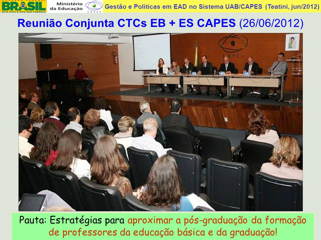 Reunião Conjunta CTCs EB + ES CAPES (26/06/2012)