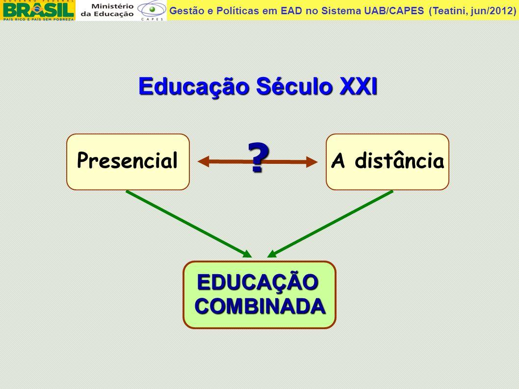 Educação Século XXI Presencial A distância EDUCAÇÃO COMBINADA