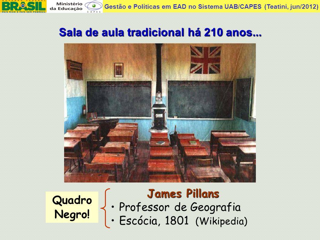 Sala de aula tradicional há 210 anos...