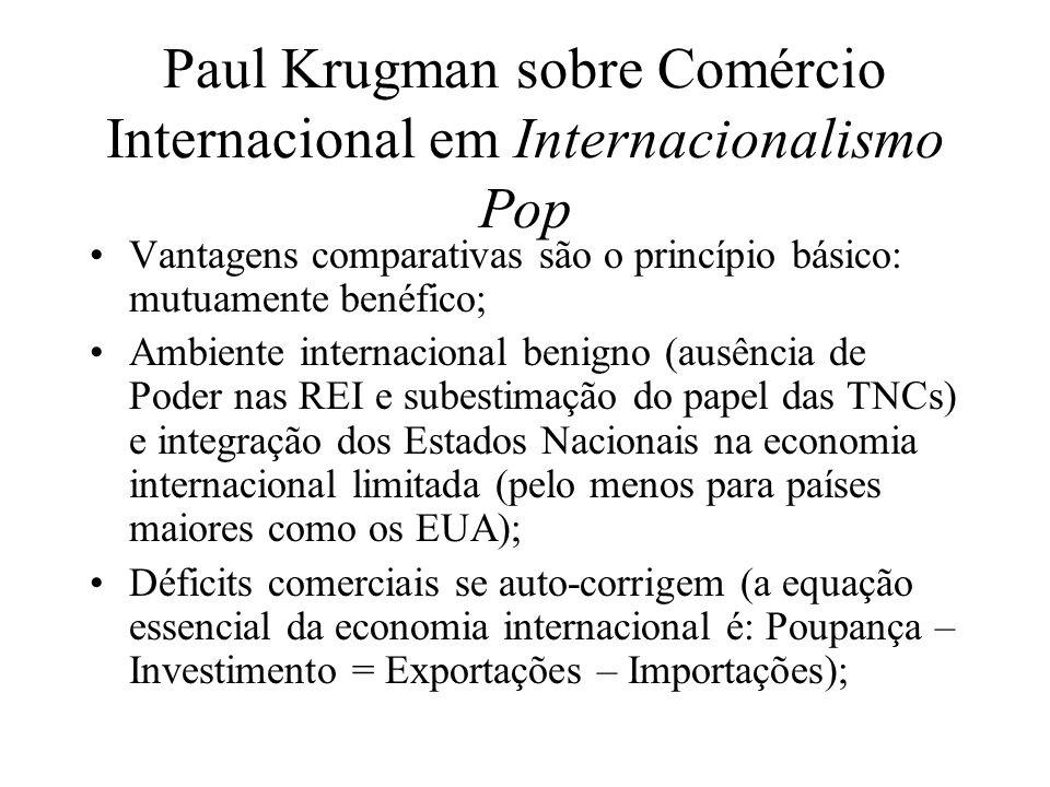 Paul Krugman sobre Comércio Internacional em Internacionalismo Pop