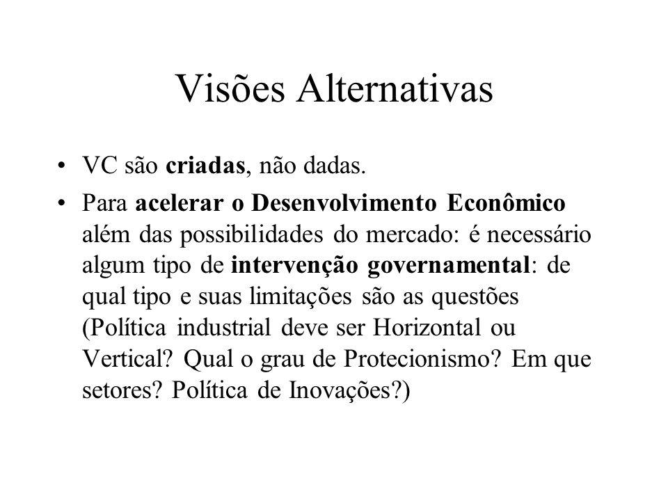 Visões Alternativas VC são criadas, não dadas.
