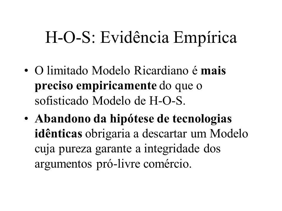 H-O-S: Evidência Empírica