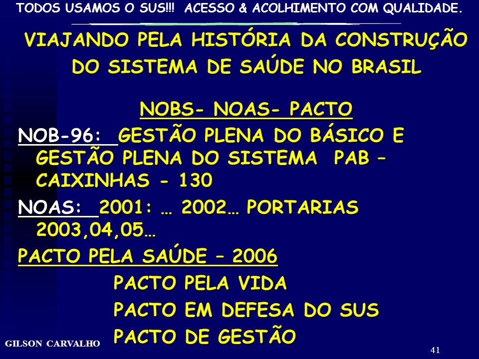 VIAJANDO PELA HISTÓRIA DA CONSTRUÇÃO DO SISTEMA DE SAÚDE NO BRASIL