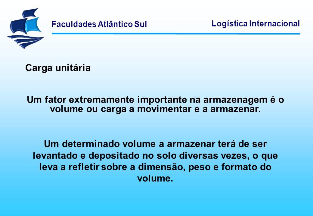 Carga unitáriaUm fator extremamente importante na armazenagem é o volume ou carga a movimentar e a armazenar.