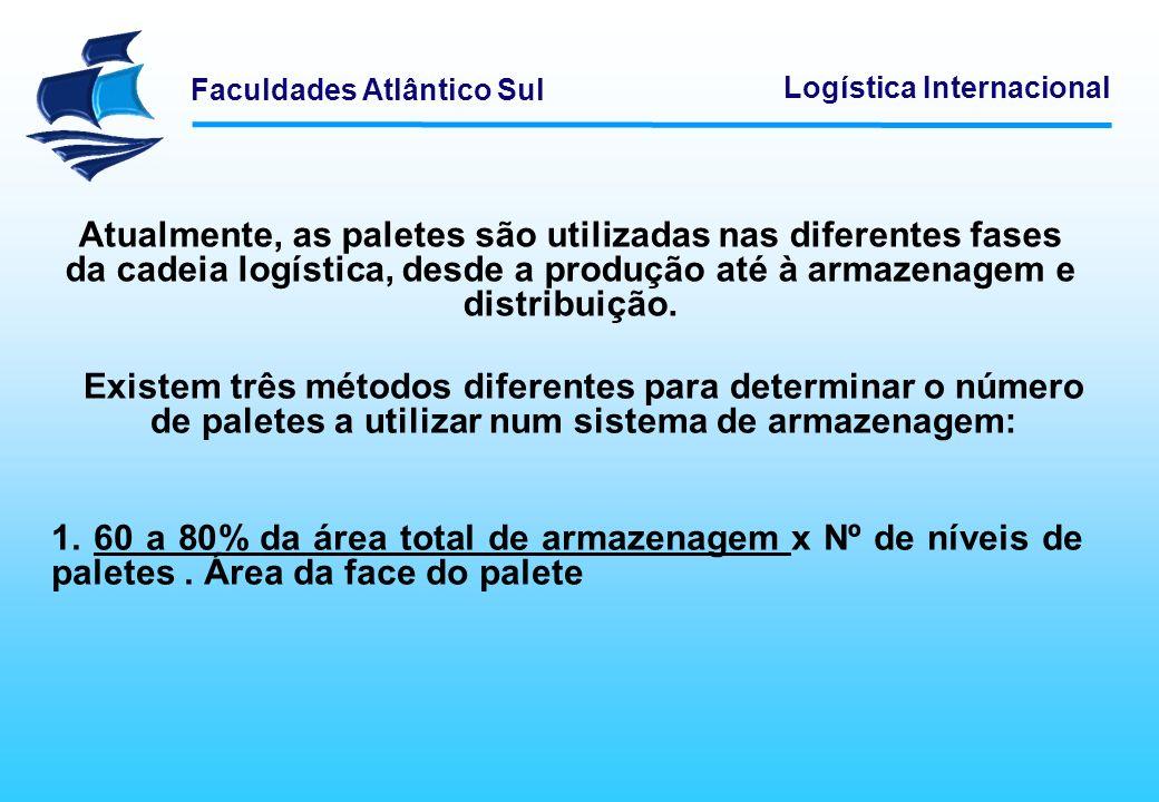 Atualmente, as paletes são utilizadas nas diferentes fases da cadeia logística, desde a produção até à armazenagem e distribuição.