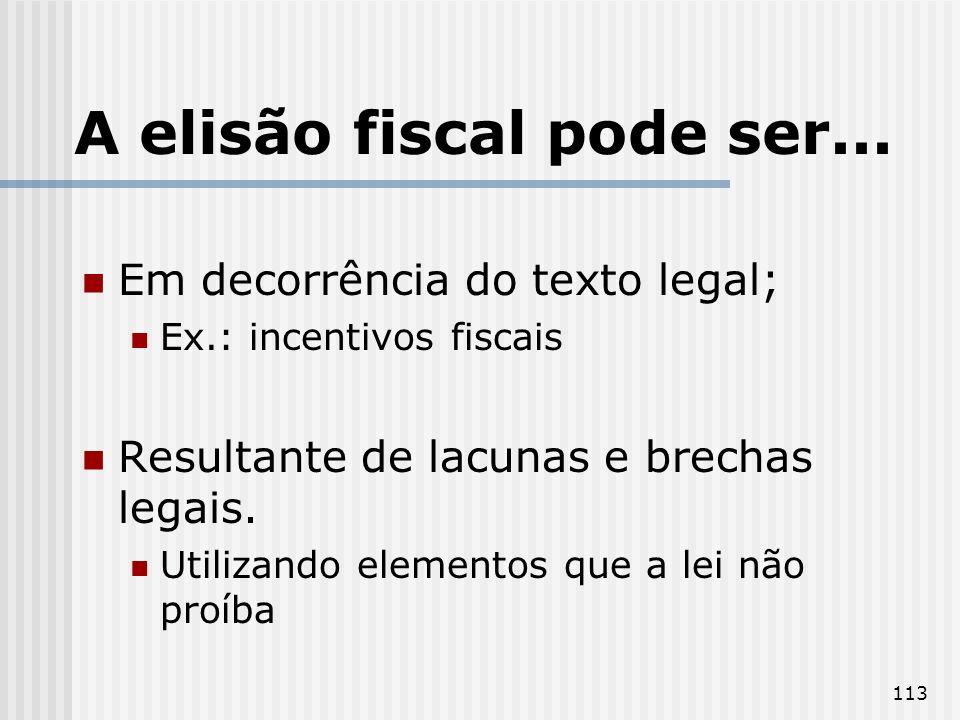A elisão fiscal pode ser...