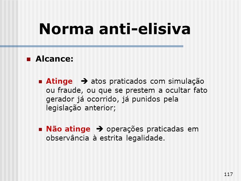 Norma anti-elisiva Alcance: