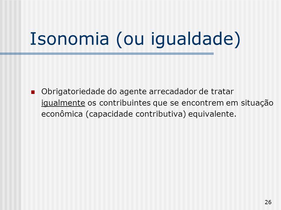 Isonomia (ou igualdade)