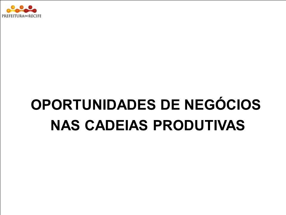 OPORTUNIDADES DE NEGÓCIOS NAS CADEIAS PRODUTIVAS