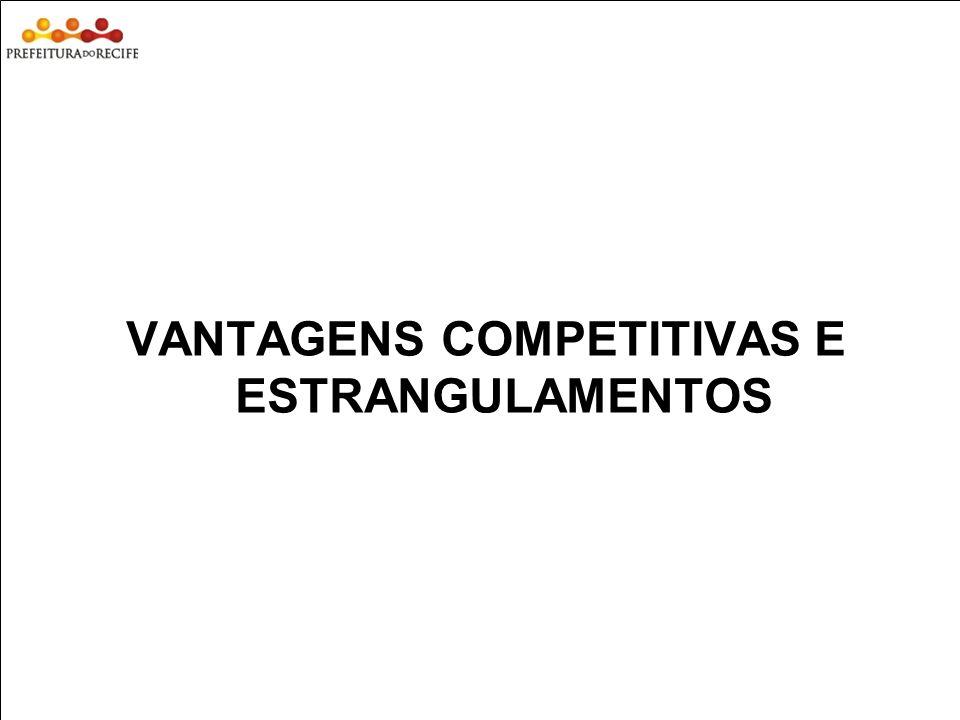VANTAGENS COMPETITIVAS E ESTRANGULAMENTOS