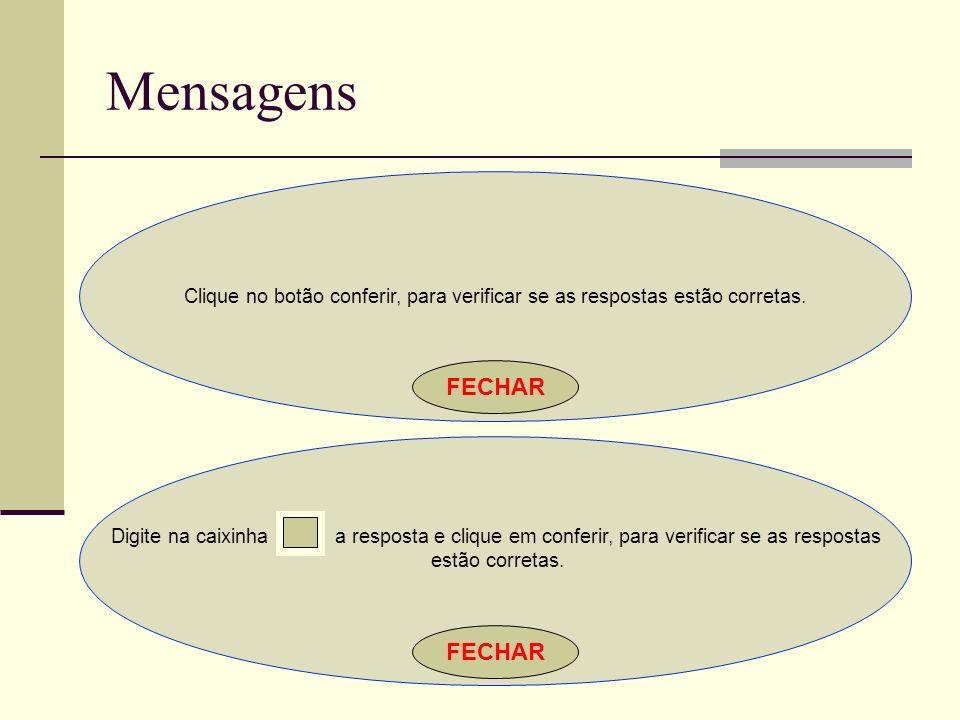 Mensagens FECHAR FECHAR
