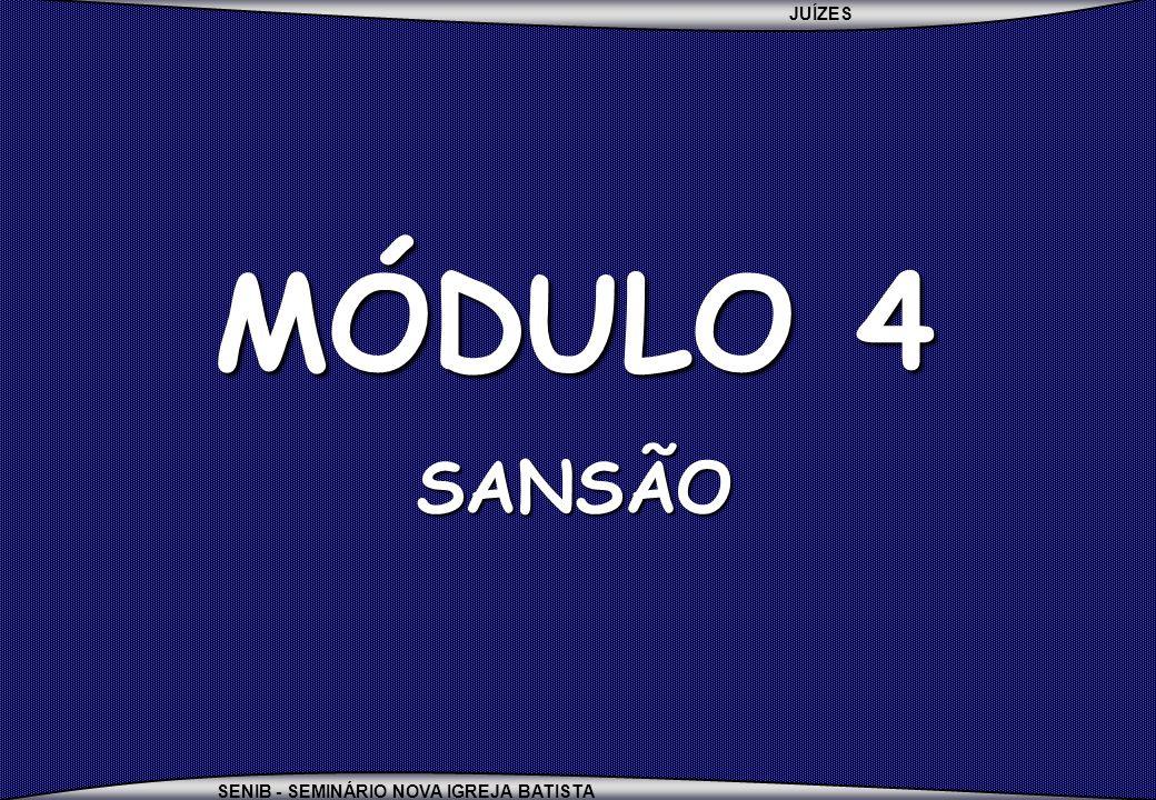 MÓDULO 4 SANSÃO