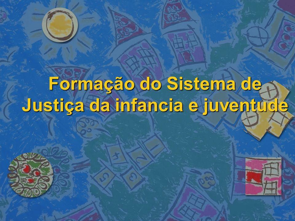 Formação do Sistema de Justiça da infancia e juventude