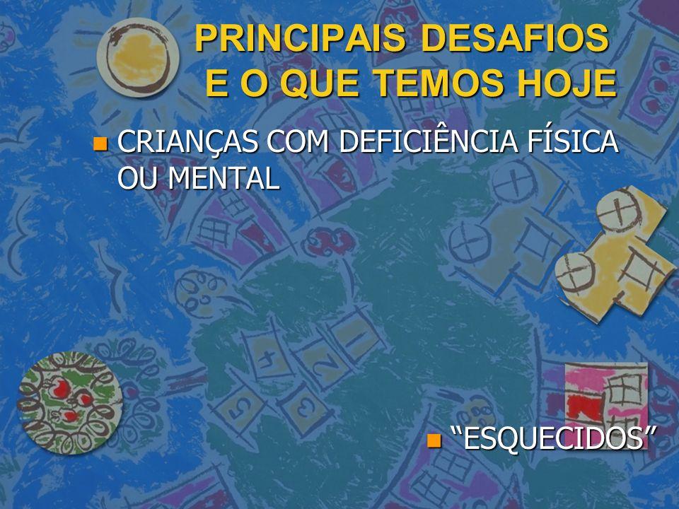 PRINCIPAIS DESAFIOS E O QUE TEMOS HOJE