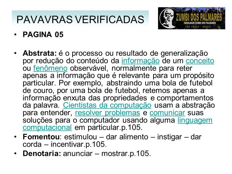 PAVAVRAS VERIFICADAS PAGINA 05
