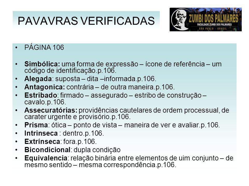 PAVAVRAS VERIFICADAS PÁGINA 106