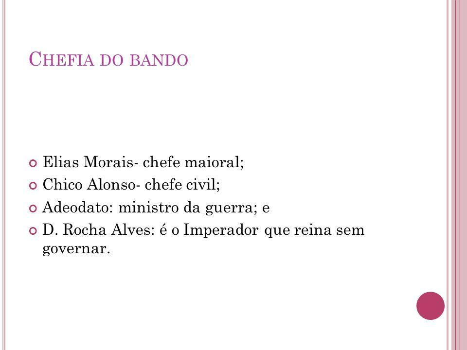 Chefia do bando Elias Morais- chefe maioral;