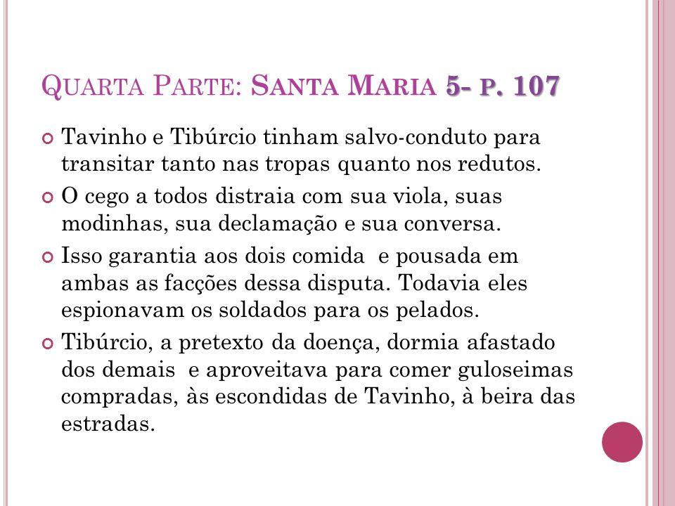 Quarta Parte: Santa Maria 5- p. 107