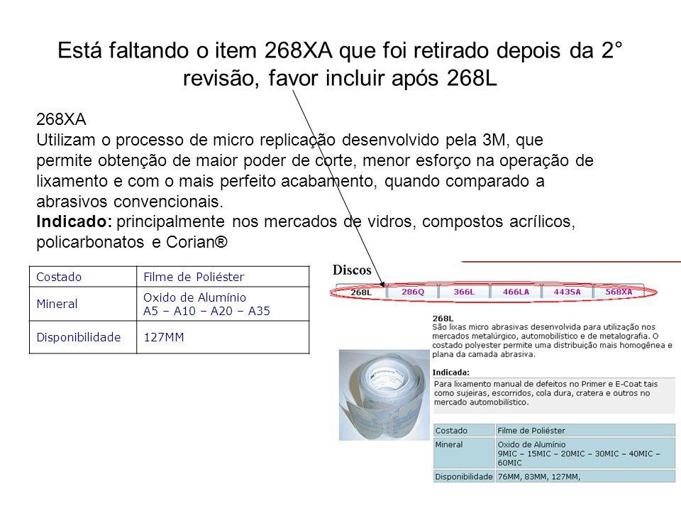 Está faltando o item 268XA que foi retirado depois da 2° revisão, favor incluir após 268L