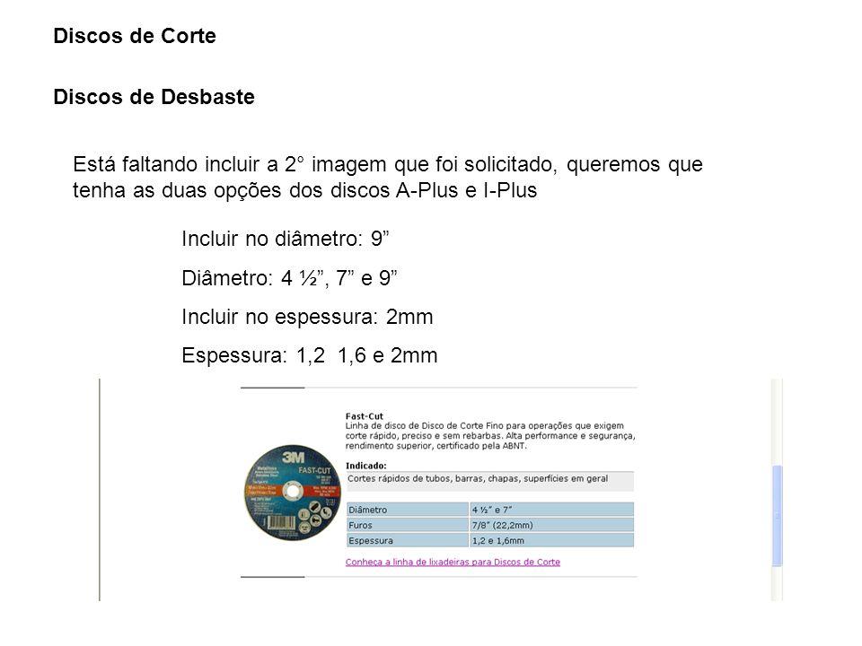 Discos de Corte Discos de Desbaste.
