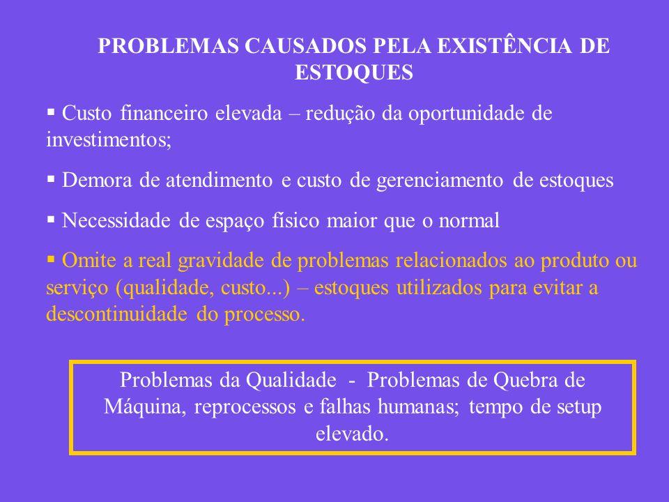 PROBLEMAS CAUSADOS PELA EXISTÊNCIA DE ESTOQUES