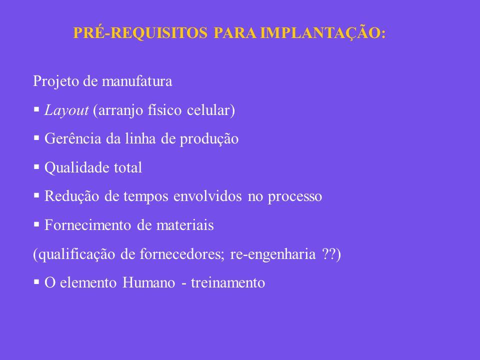 PRÉ-REQUISITOS PARA IMPLANTAÇÃO: