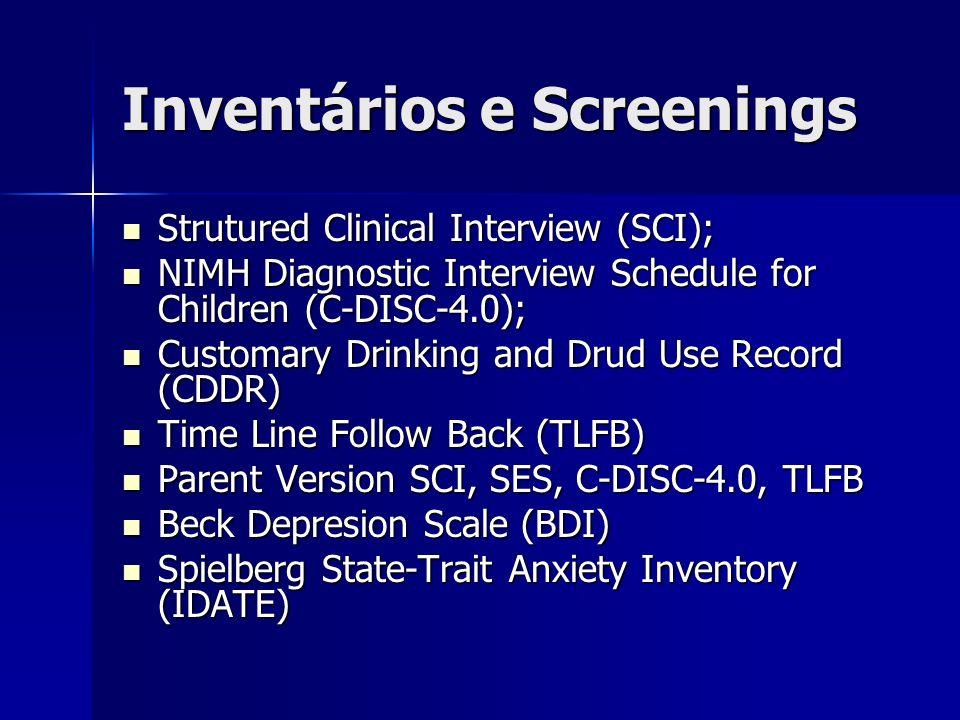 Inventários e Screenings