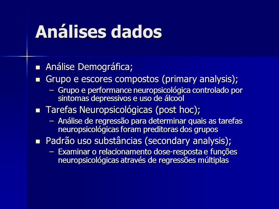 Análises dados Análise Demográfica;