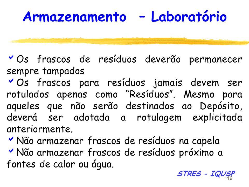 Armazenamento – Laboratório