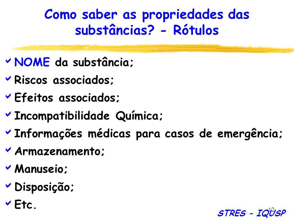 Como saber as propriedades das substâncias - Rótulos