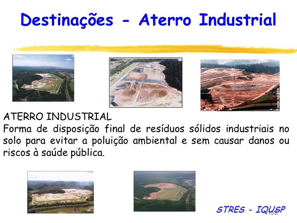 Destinações - Aterro Industrial