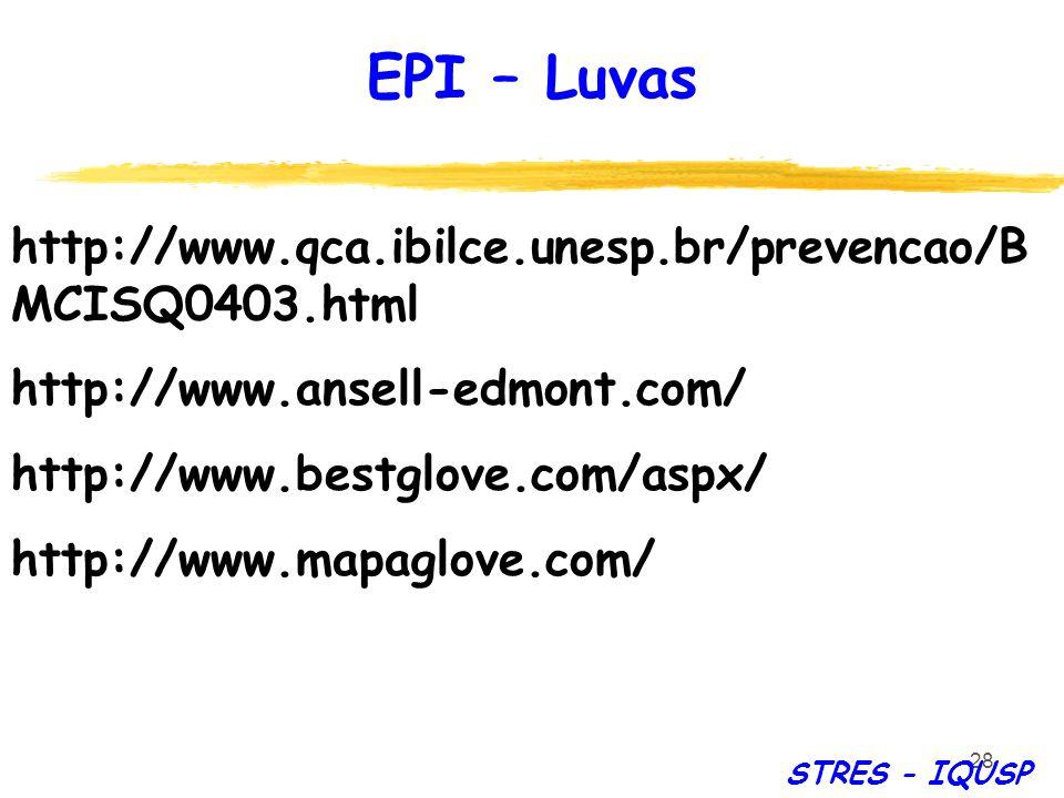 EPI – Luvas http://www.qca.ibilce.unesp.br/prevencao/BMCISQ0403.html