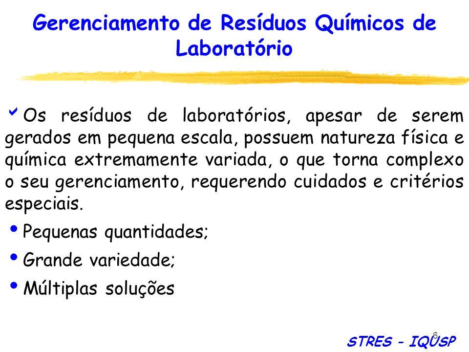 Gerenciamento de Resíduos Químicos de Laboratório