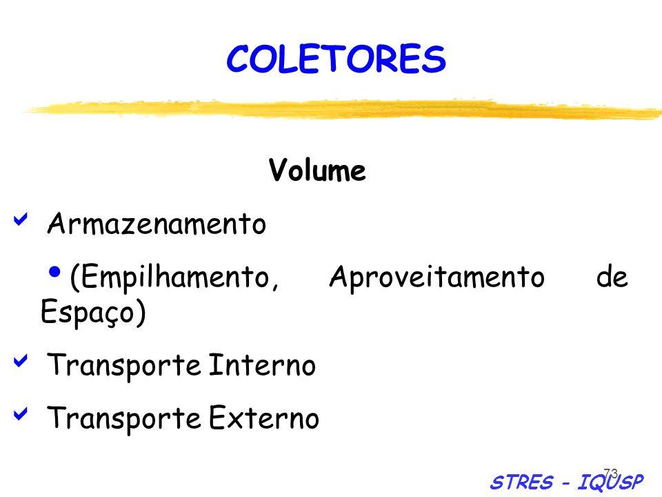 COLETORES Volume Armazenamento