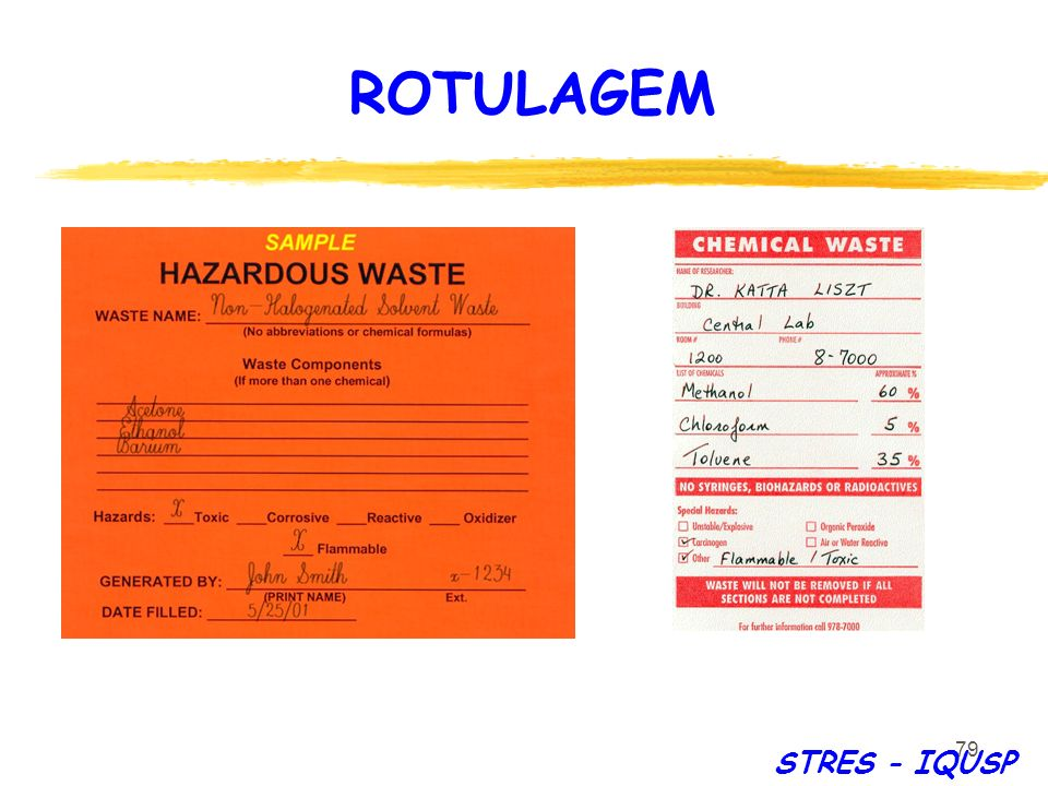 ROTULAGEM STRES - IQUSP