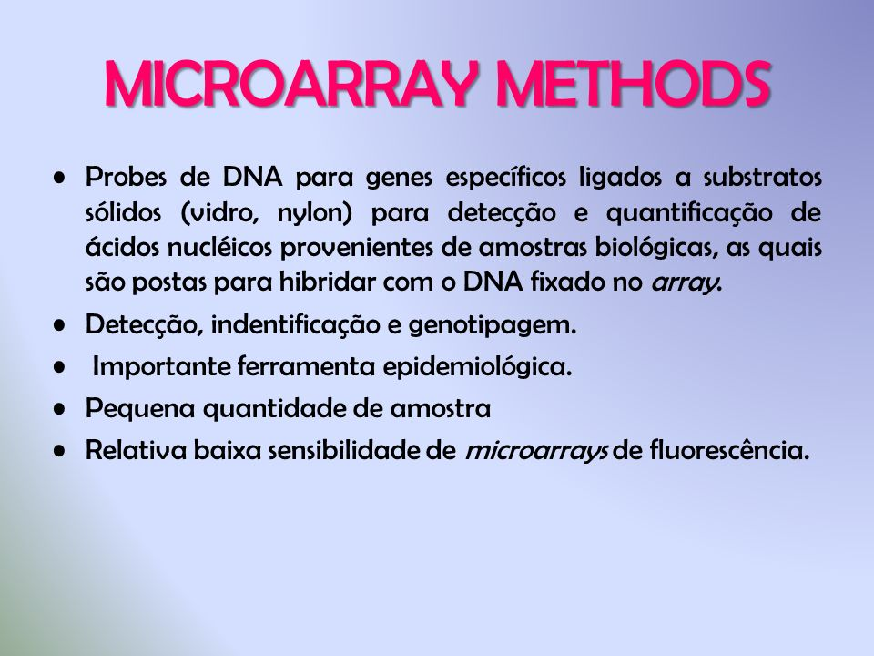 MICROARRAY METHODS
