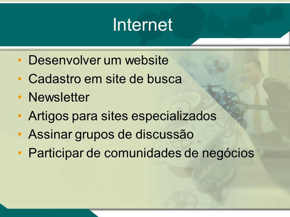 Internet Desenvolver um website Cadastro em site de busca Newsletter