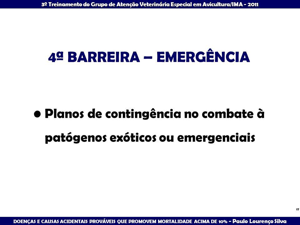 4ª BARREIRA – EMERGÊNCIA