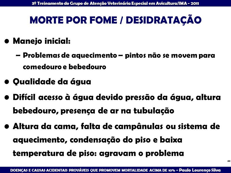 MORTE POR FOME / DESIDRATAÇÃO