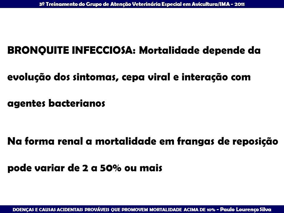 BRONQUITE INFECCIOSA: Mortalidade depende da evolução dos sintomas, cepa viral e interação com agentes bacterianos