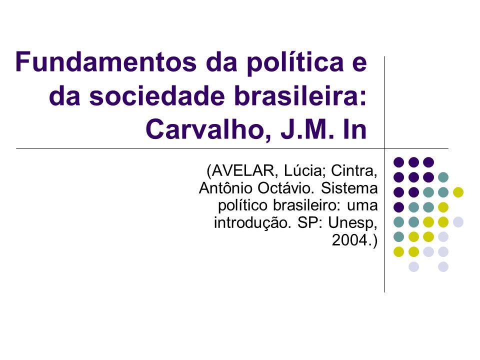Fundamentos da política e da sociedade brasileira: Carvalho, J.M. In
