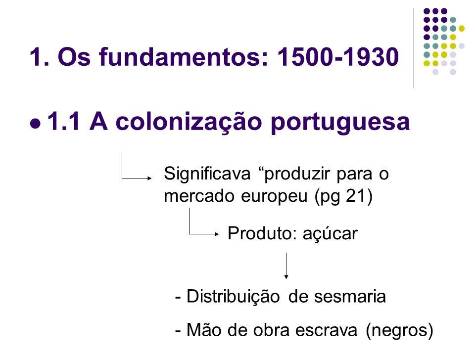 1.1 A colonização portuguesa