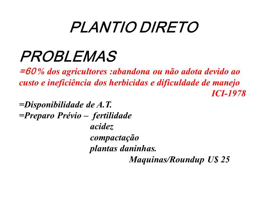 PLANTIO DIRETO PROBLEMAS