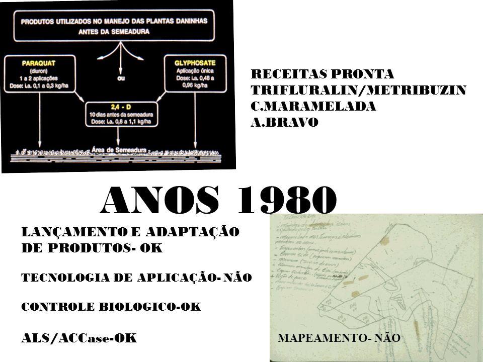 ANOS 1980 RECEITAS PRONTA TRIFLURALIN/METRIBUZIN C.MARAMELADA A.BRAVO