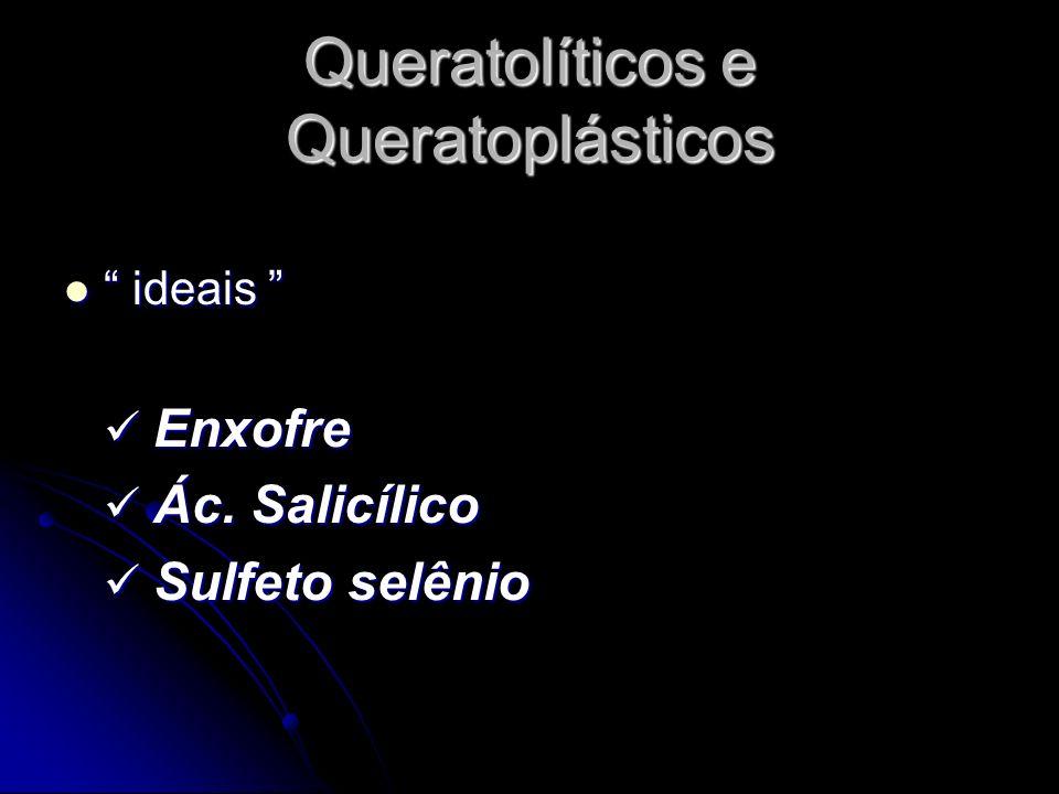 Queratolíticos e Queratoplásticos