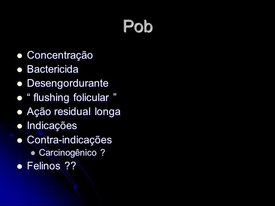 Pob Concentração Bactericida Desengordurante flushing folicular